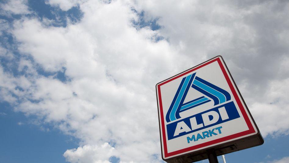Aldi-Logo in Gelsenkirchen (Archiv)