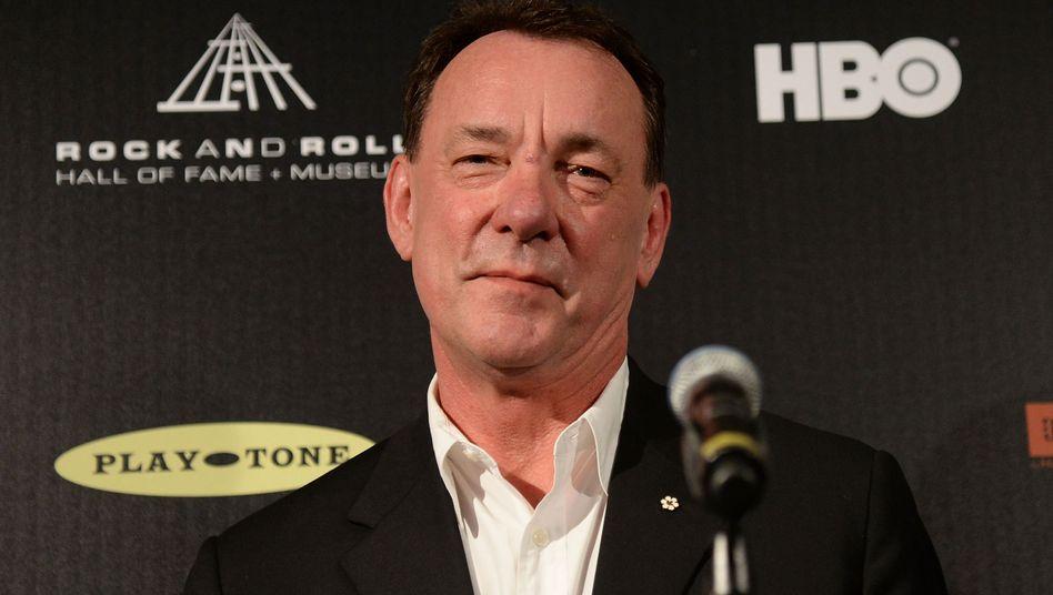 Peart bei der Einführungszeremonie in die Rock and Roll Hall of Fame 2013.