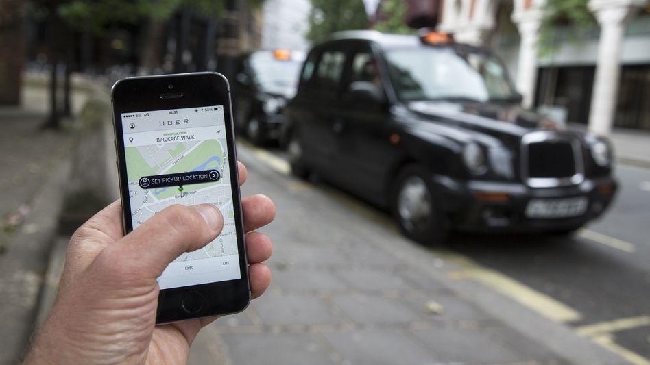 Uber-App (hier in London): Fahrer per Smartphone bestellen