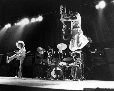 The Who bei einem Konzert in den Siebzigerjahren
