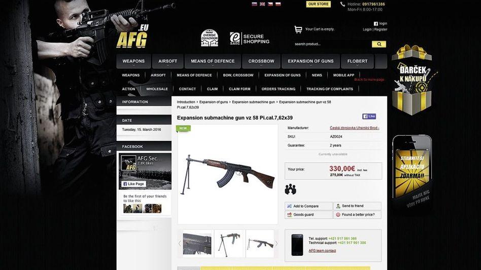 Website der Firma AFG mit Schreckschussgewehr Ceska: Nach zwei Stunden Schlosserarbeit wieder scharf
