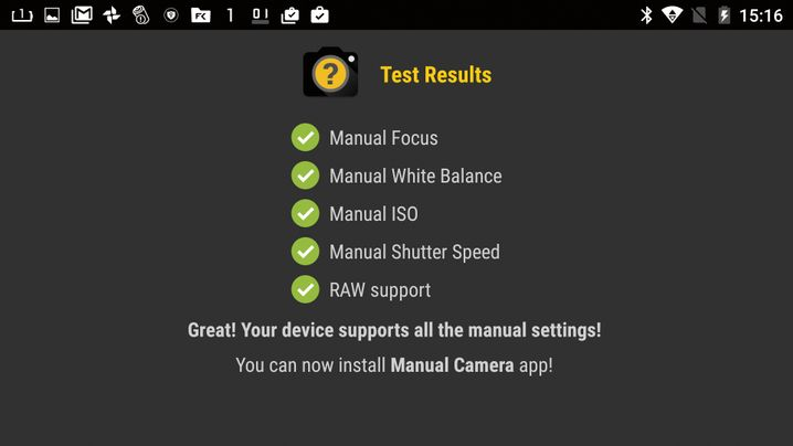 Android-App Manual Camera Compatibility