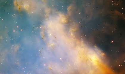 Detailansicht des Hantelnebels: Kosmische Wetterfront