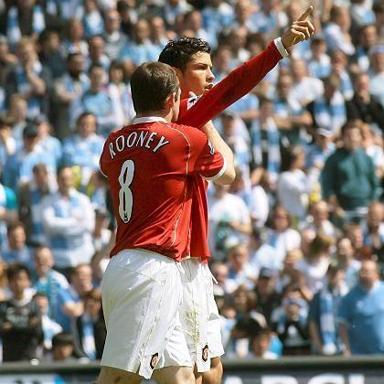 ManU-Duo Ronaldo (oben) und Rooney: Überragende Saison