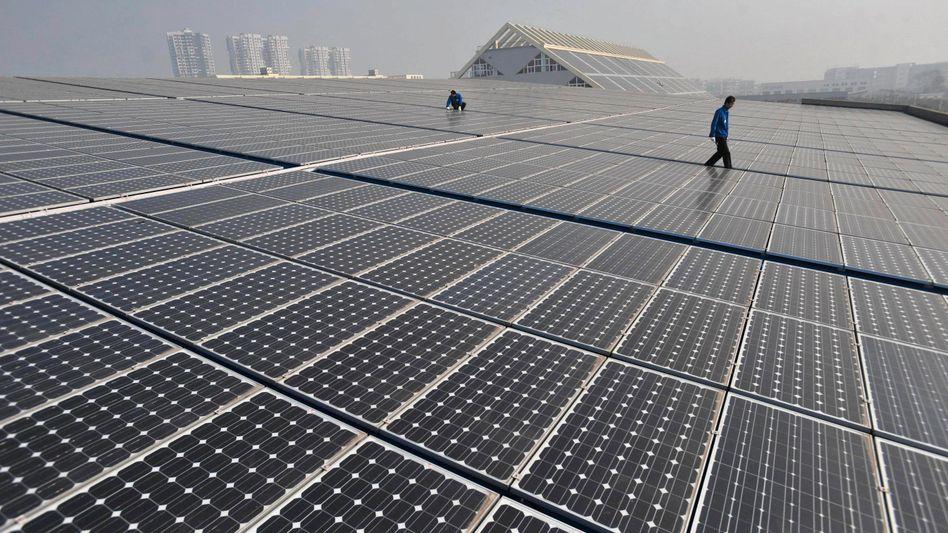 Solarzellen in China: Strafzölle von 47 Prozent geplant