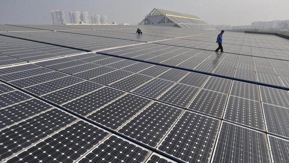 Solarzellen in China: Streit um Strafzölle offenbar eingedämmt