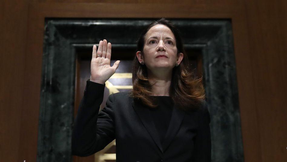 Avril Haines bei ihrer Anhörung im Kongress