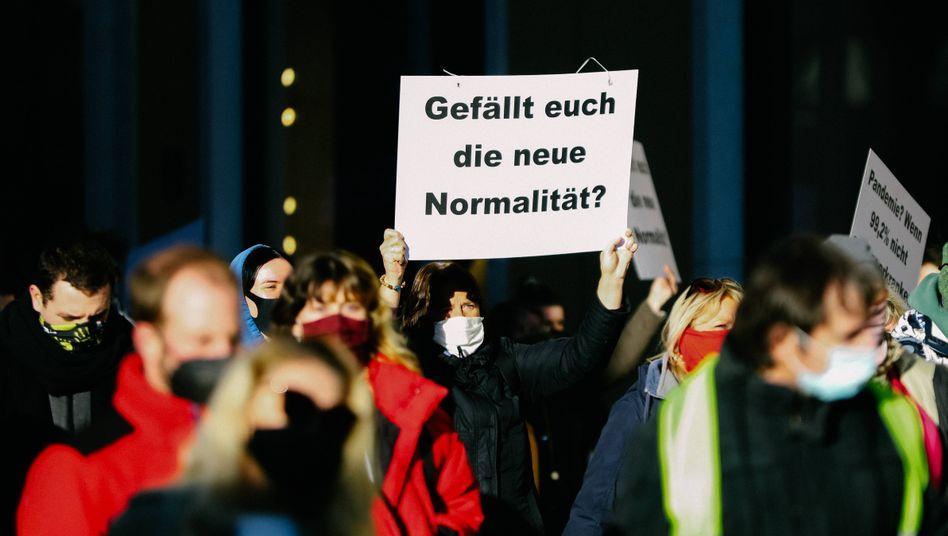Demonstration gegen Corona-Auflagen in München (im Februar)