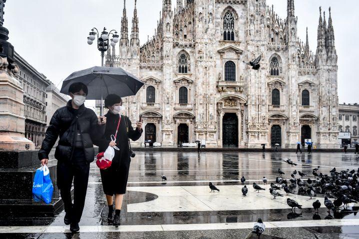 Touristen in Mailand