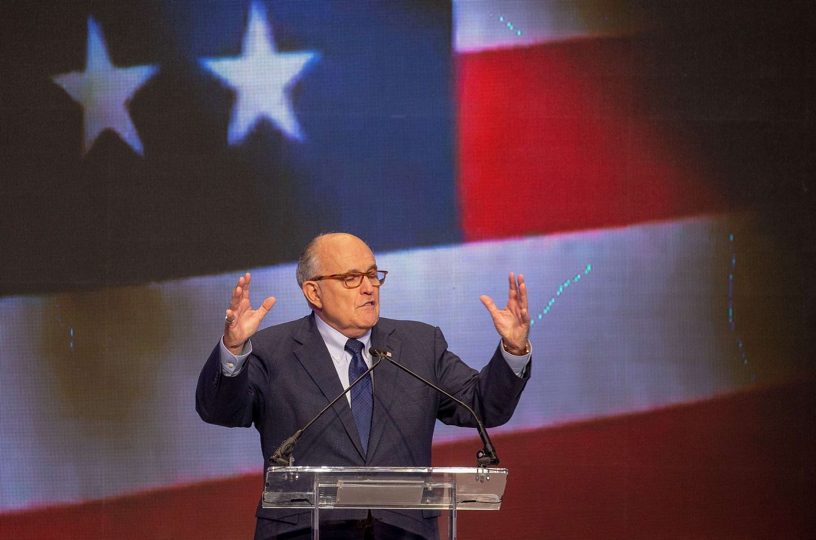 US-PRESIDENT-TRUMPS-NEWLY-APPOINTED-LAWYER-RUDY-GIULIANI-SPEAKS