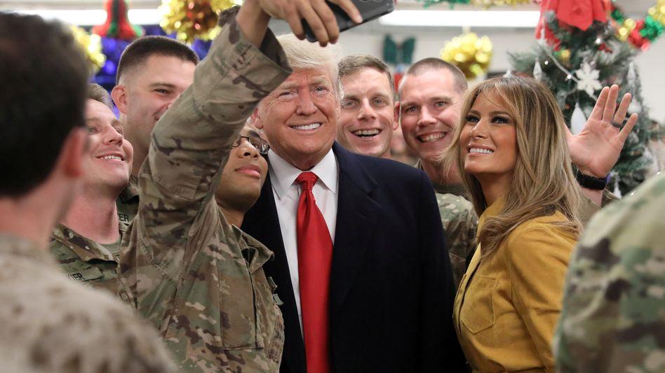 US-Präsident Trump und die First Lady im Irak