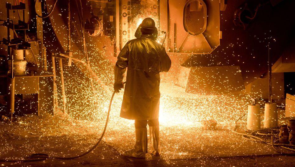 Stahlwerker bei Salzgitter