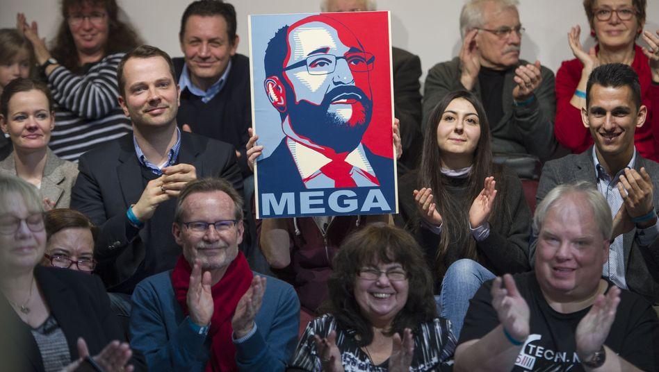 Schulz-Fans (im Januar)