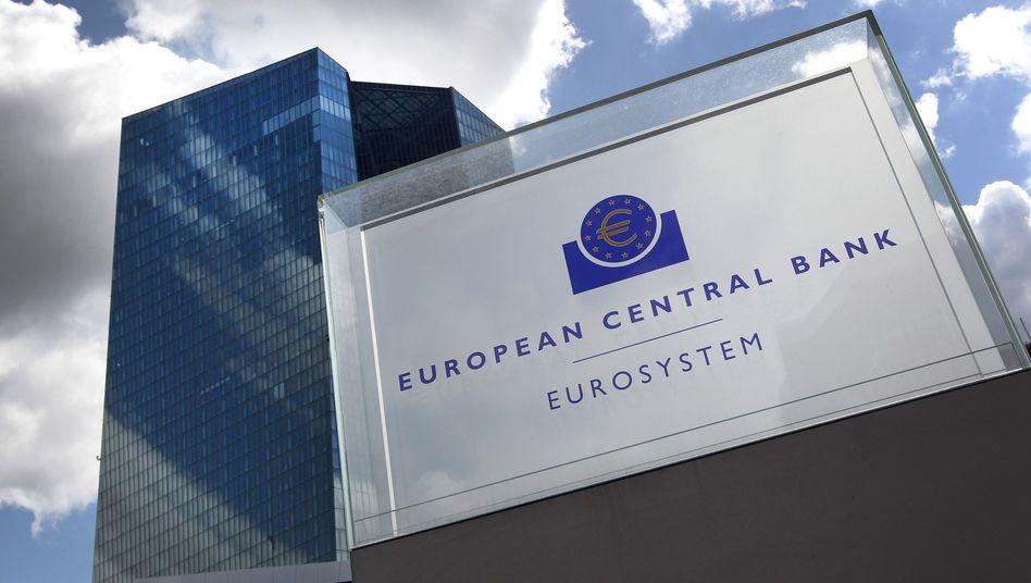 Die Zentrale der Europäischen Zentralbank in Frankfurt