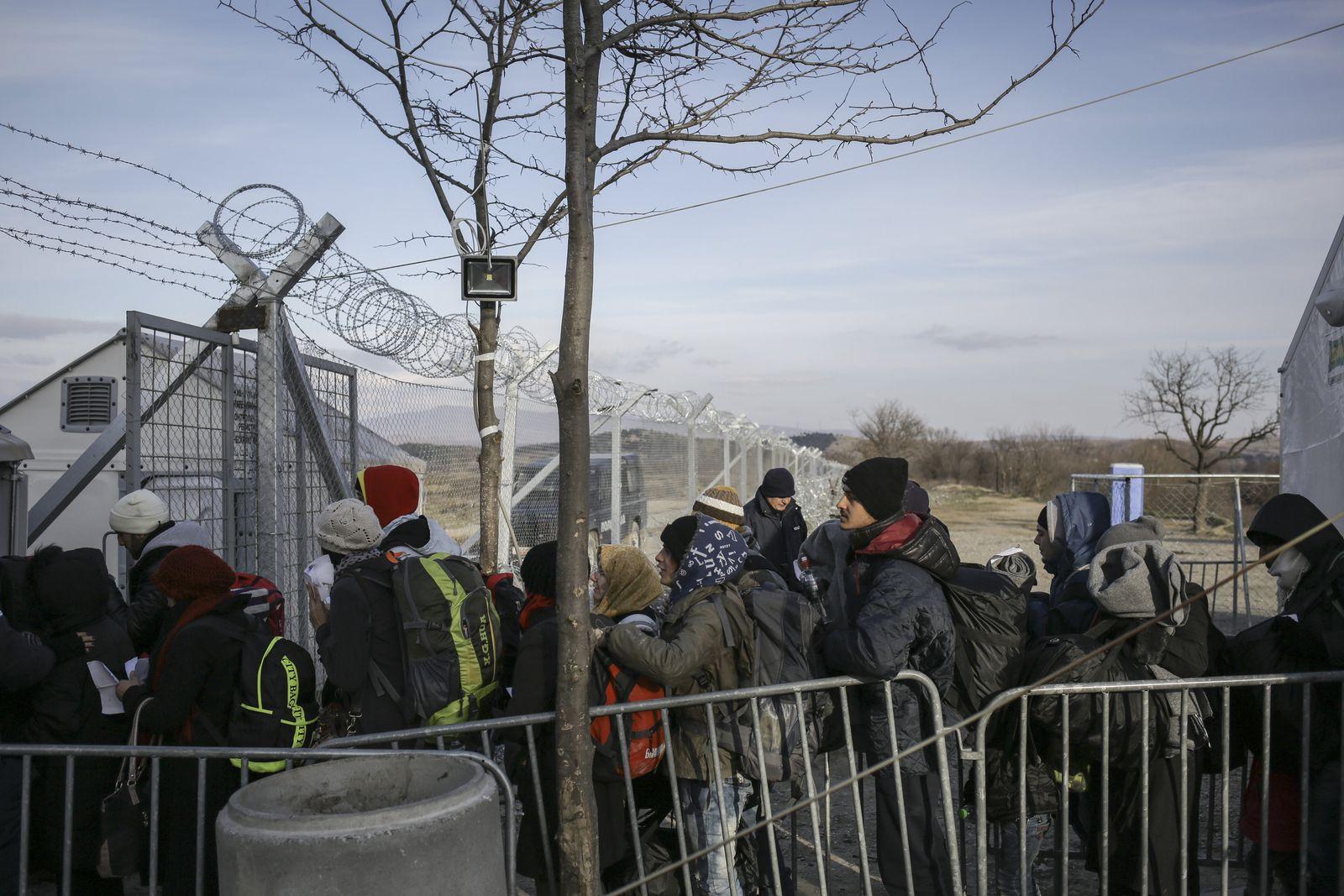 Flüchtlinge/ Grenze/ Mazedonien/ Griechenland