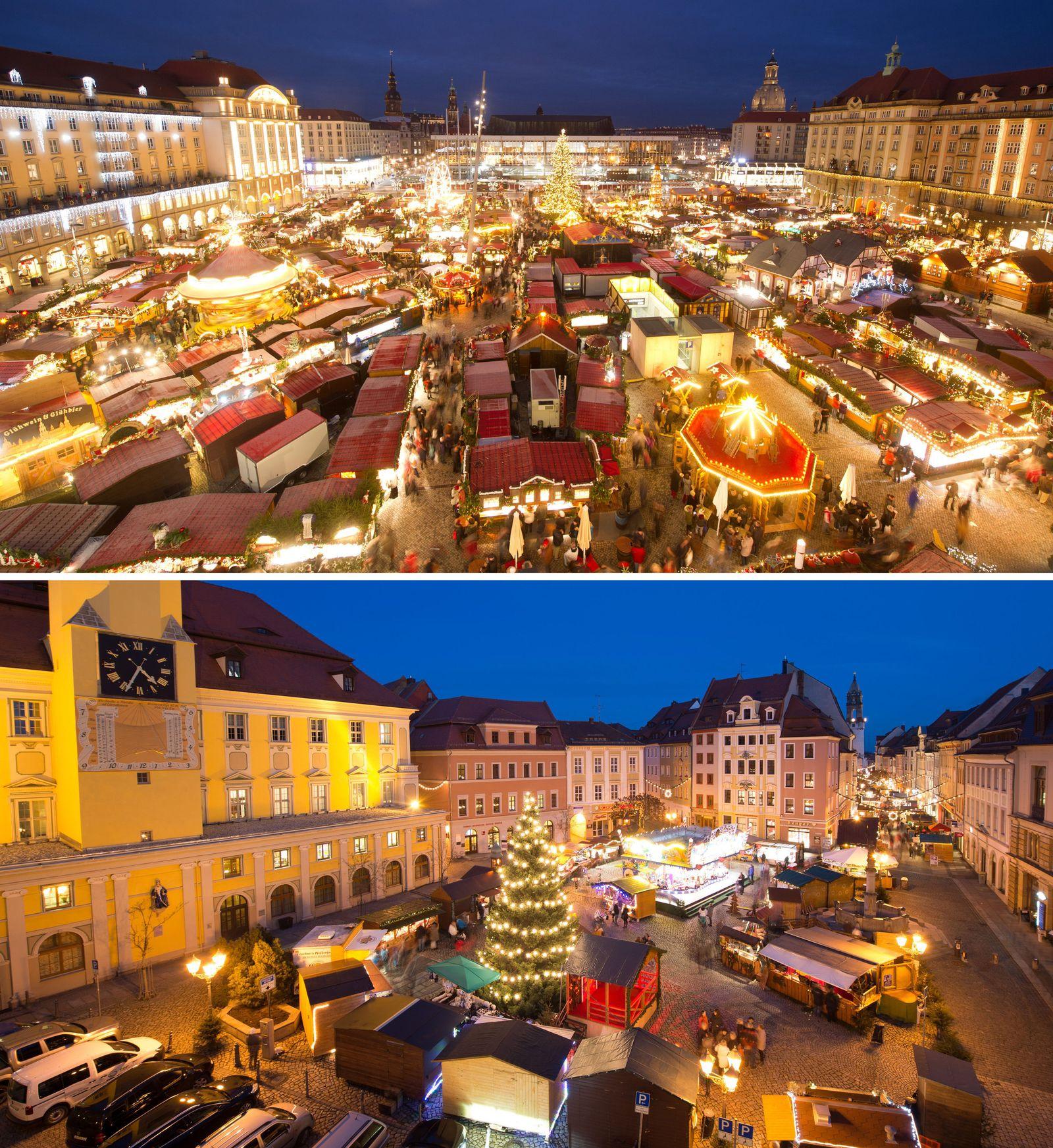 Bautzener Wenzelsmarkt und Dresdner Striezelmarkt
