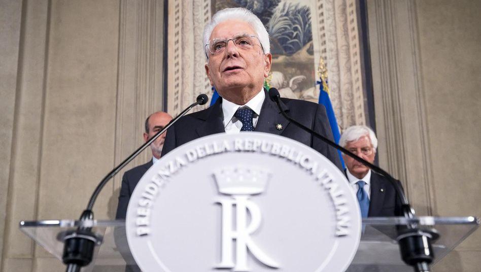 Staatspräsident Sergio Mattarella ist bemüht, eine neue Regierung für Italien zu finden