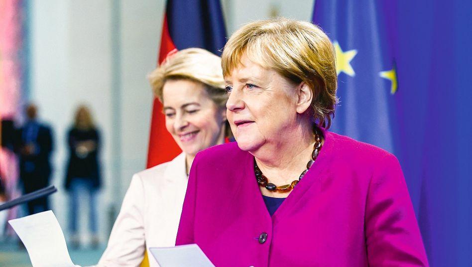 """Christdemokratinnen von der Leyen, Merkel:""""Vergiss nicht, vorher mit uns zu reden"""""""