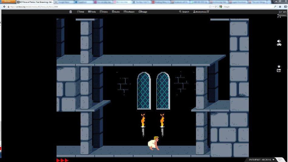 Prince of Persia: Einer von 2400 Klassikern aus der Zeit von MS-Dos (Screenshot archive.org)