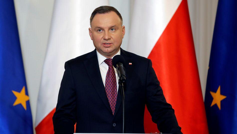 Soll wiedergewählt werden: Polens Präsident Andrzej Duda