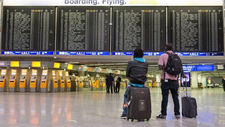 Lahmgelegt: Ver.di-Streik trifft Frankfurter Flughafen