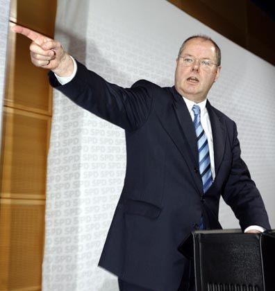 Haushaltswächter Steinbrück: Notfalls ohne die Minister