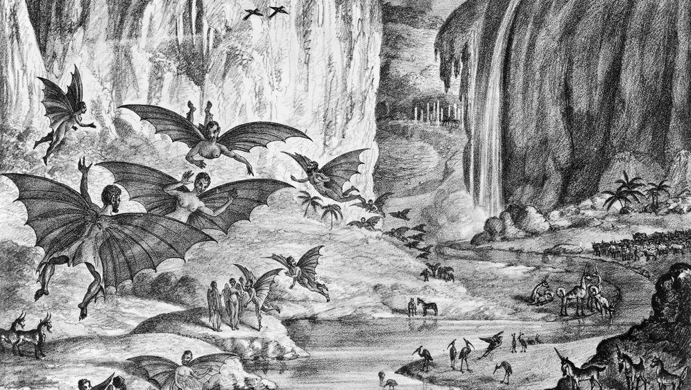 Mondschwindel 1835: Fledermausmenschen auf dem Erdtrabanten