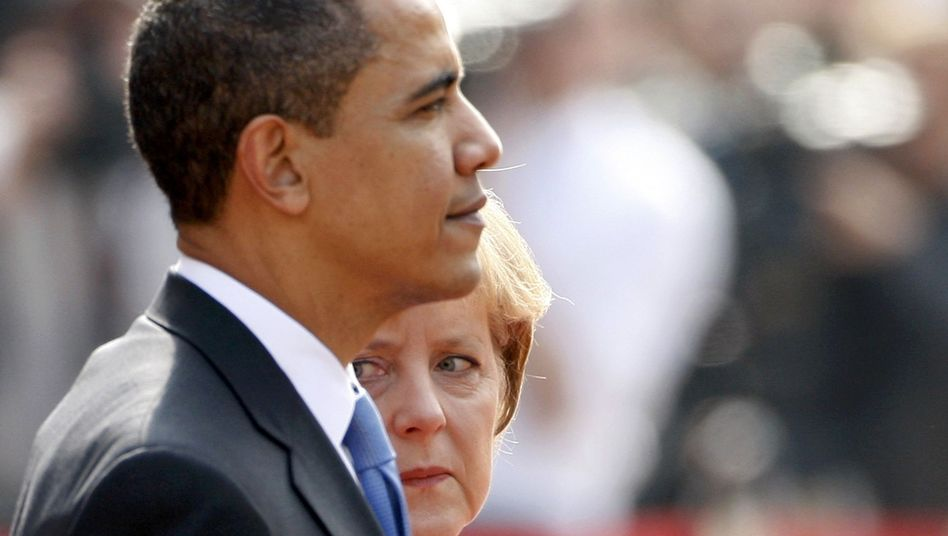 A wall exists in relations between US President Barack Obama and Angela Merkel. Merkel constantly calls out across the wall. The response, if she's lucky enough to get one, isn't encouraging: Oh, I see ...