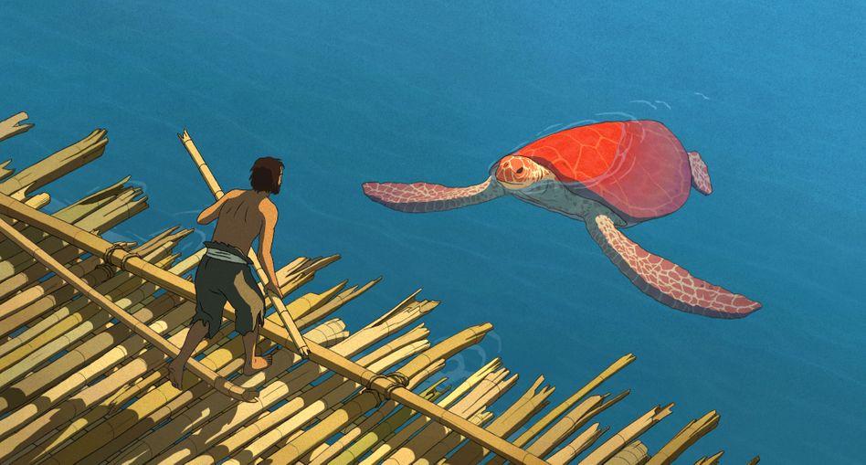 Japanisch-europäischer Animationsfilm: Schiffbruch mit Schildkröte