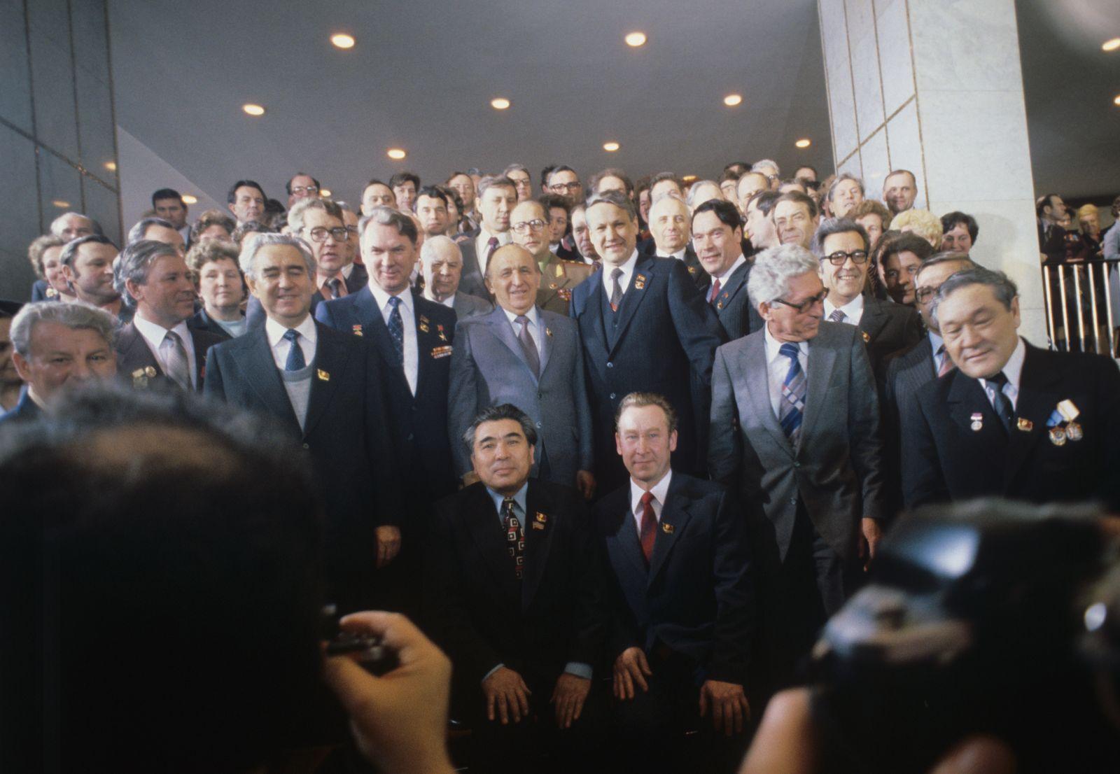 Boris Yeltsin and Bulgarian Communist Party General Secretary Todor Zhivkov