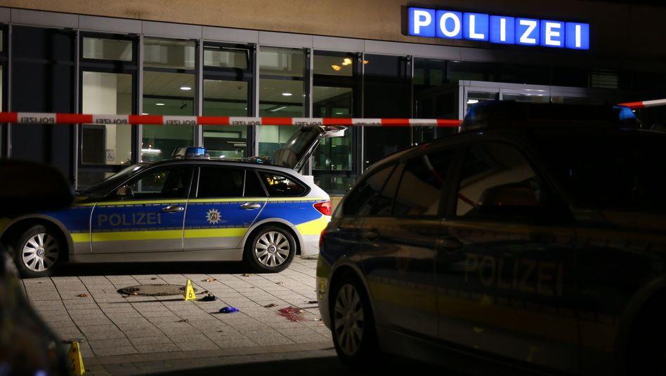 Tatort vor der Polizeiwache-Süd in Gelsenkirchen
