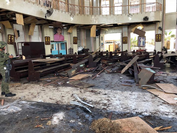 Anschlag auf Kirche in Jolo