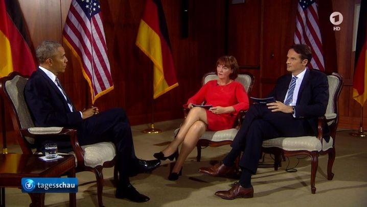 Obama in Berlin: Präsidialer Spaziergang