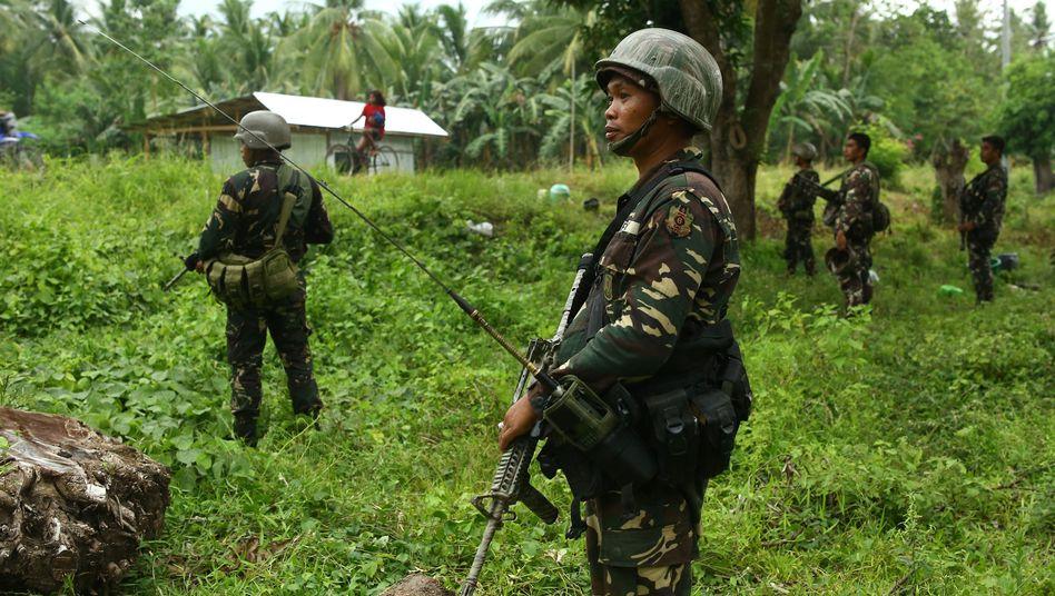 Philippinische Soldaten in der Region Mindanao (Archivbild)