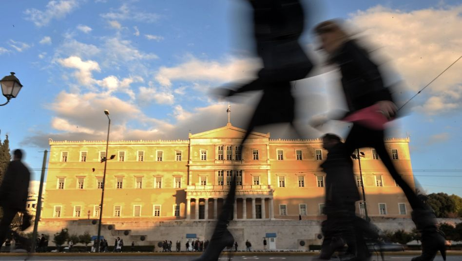 The Greek Parliament in Athens: The European Commission is putting pressure on Greece to sort out its deficit problem.