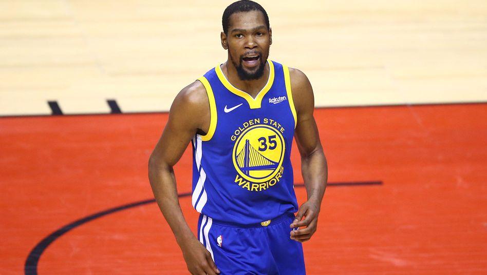 Kevin Durant - hier noch im Trikot der Golden State Warriors - will bei den Brooklyn Nets unterschreiben