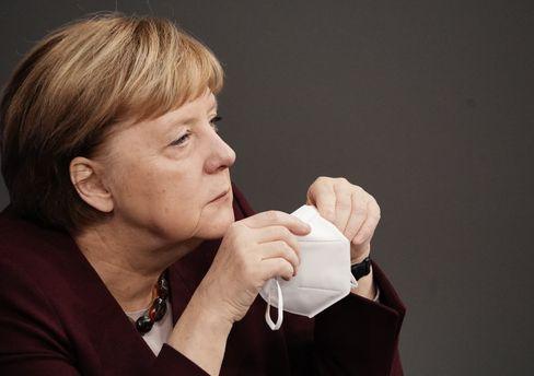 Merkel während der Regierungserklärung im Bundestag