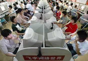 Volle Kontrolle durch die chinesische Führung: Internet-Cafe Peking