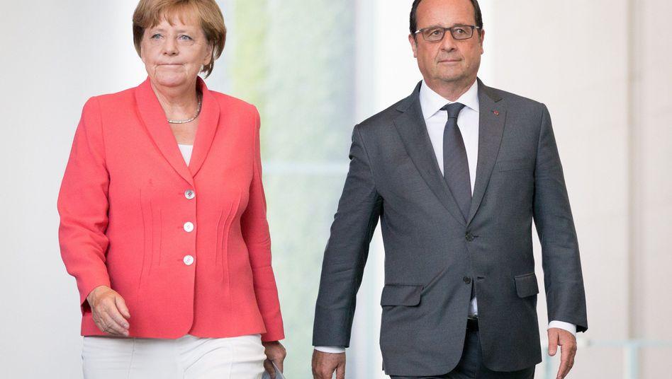 Kanzlerin Merkel und Frankreichs Präsident Hollande: Gemeinsame Standards