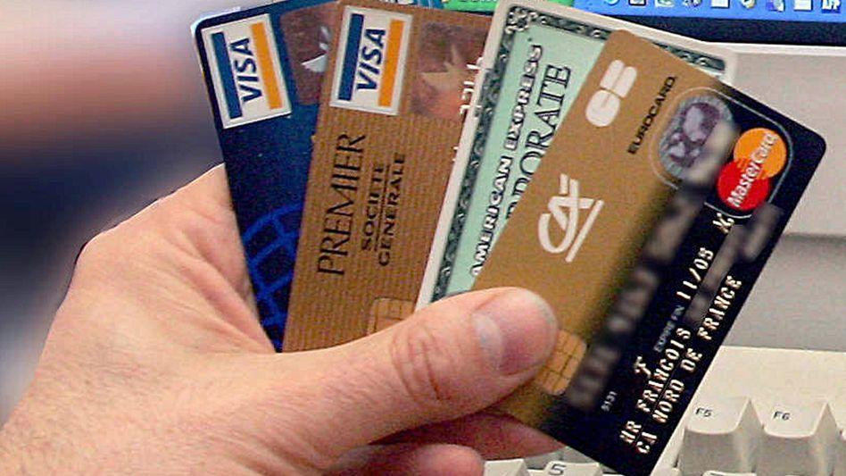 Kreditkarten: In Datenform ein beliebtes Ziel von Internetkriminellen