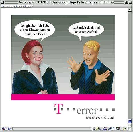 """Aktuelle Startseite des Satiremagazins """"Titanic"""": Schlechte Werbung schreit nach Häme"""