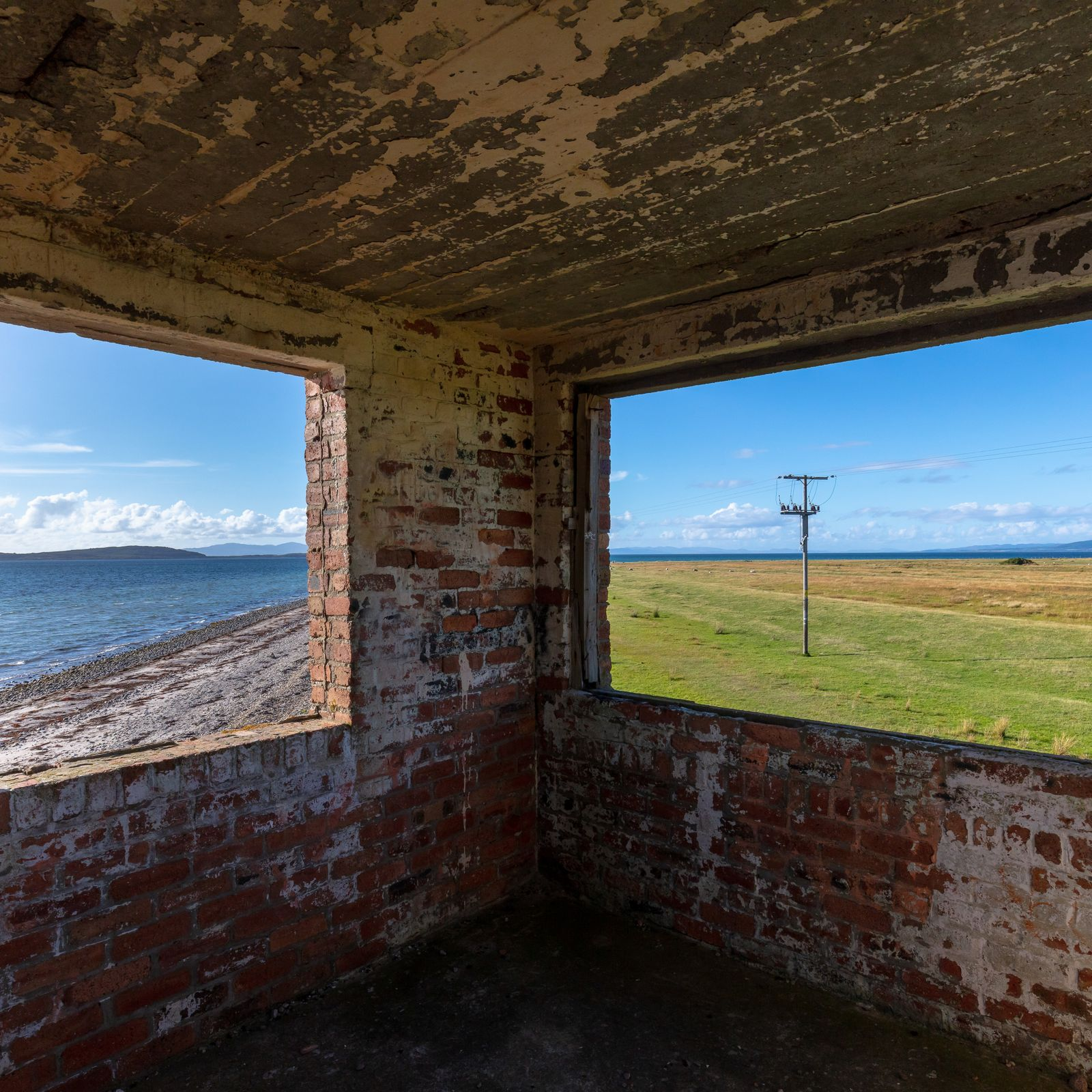 Rhunahaorine Point WW2 lookout post II, Kintyre, Argyll & Bute, Scotland.