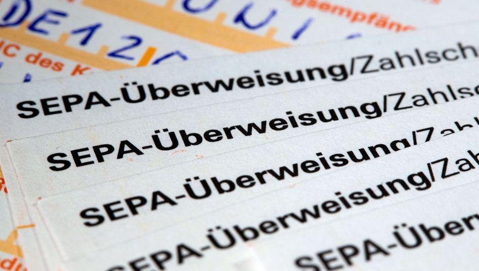 SEPA-Überweisungen
