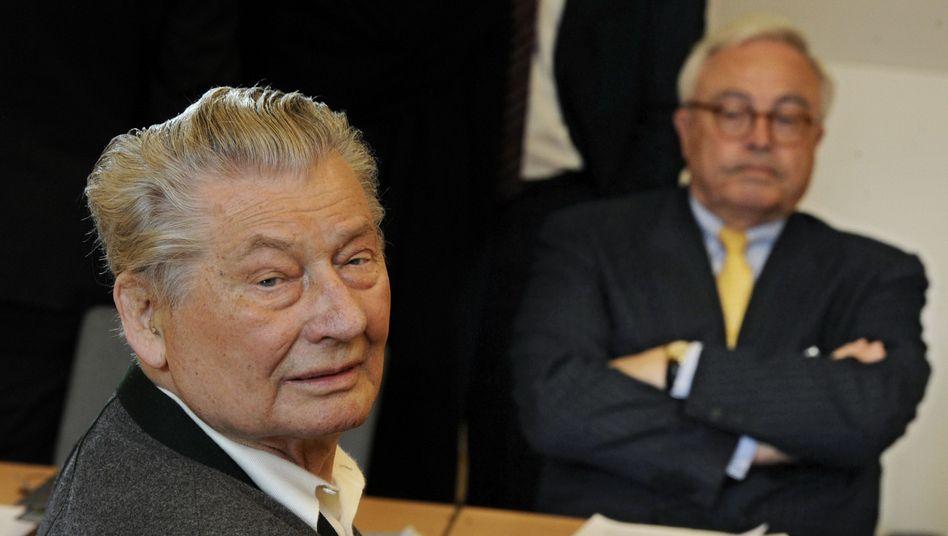 Prozessgegner Kirch (l.) und Breuer (r.): Showdown vor Gericht