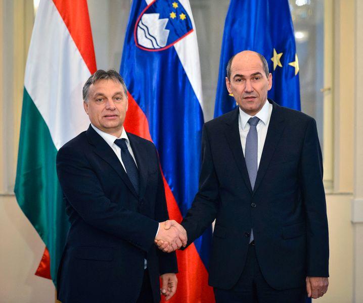 Ungarns Präsident Orbán, Sloweniens Ministerpräsident Janša