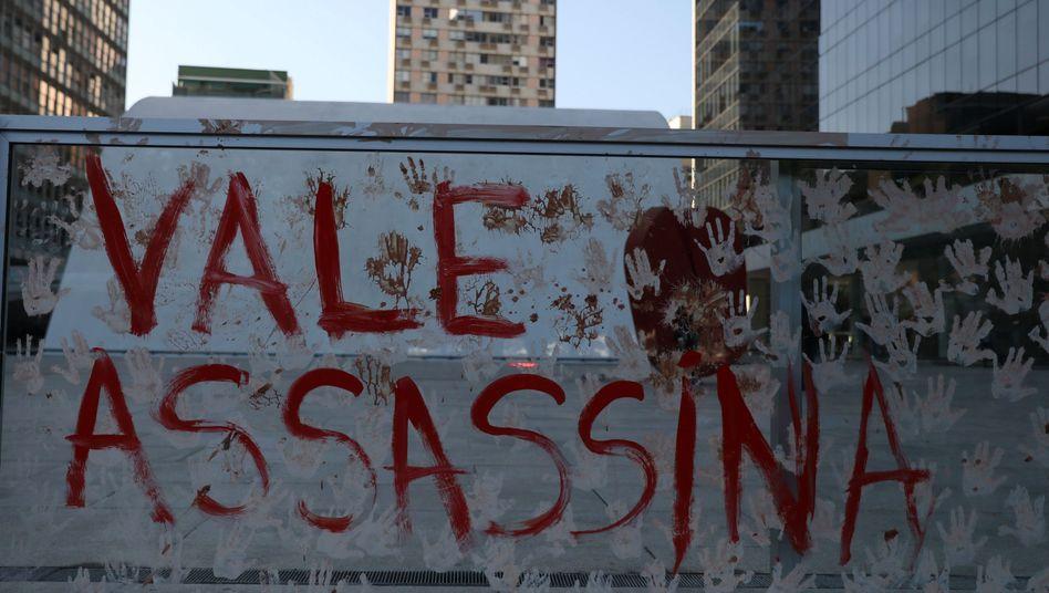 Protestaktion gegen den Bergbaukonzern Vale in Rio de Janeiro