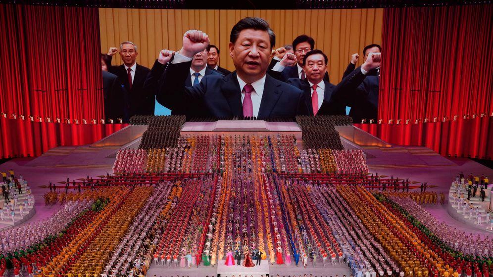 Präsident Xi Jinping auf einer Veranstaltung zum 100. Gründungsjubiläum der KP