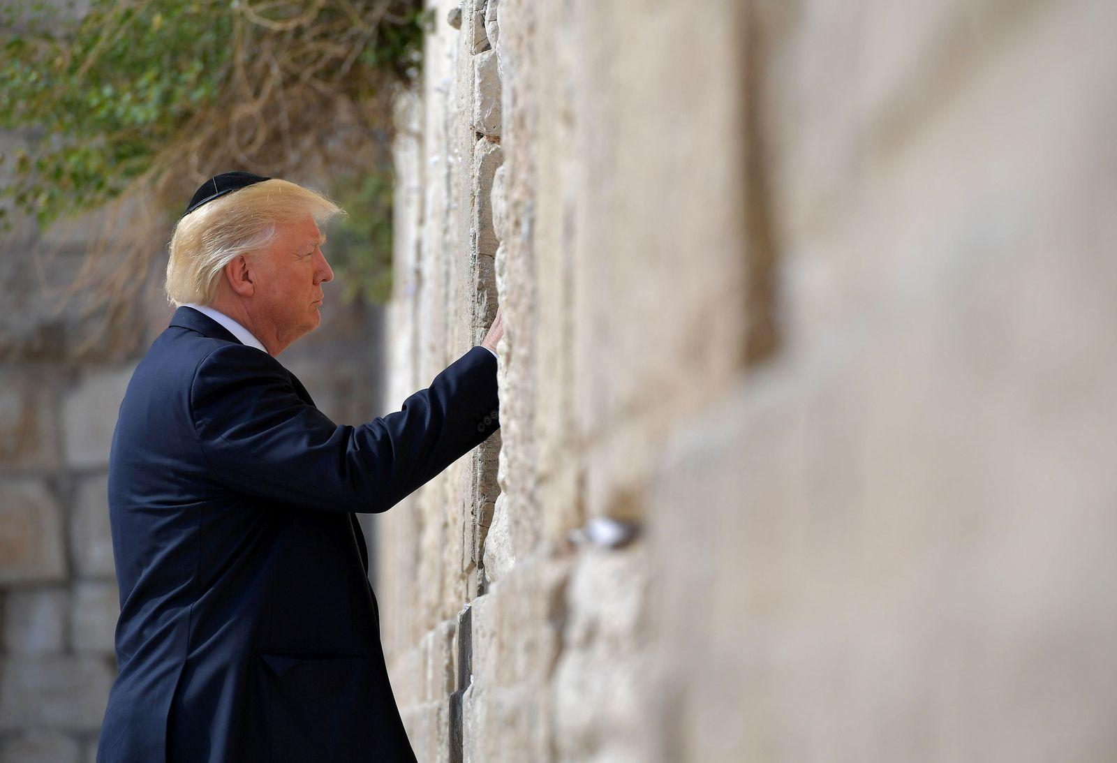 Israel / Donald Trump / Klagemauer