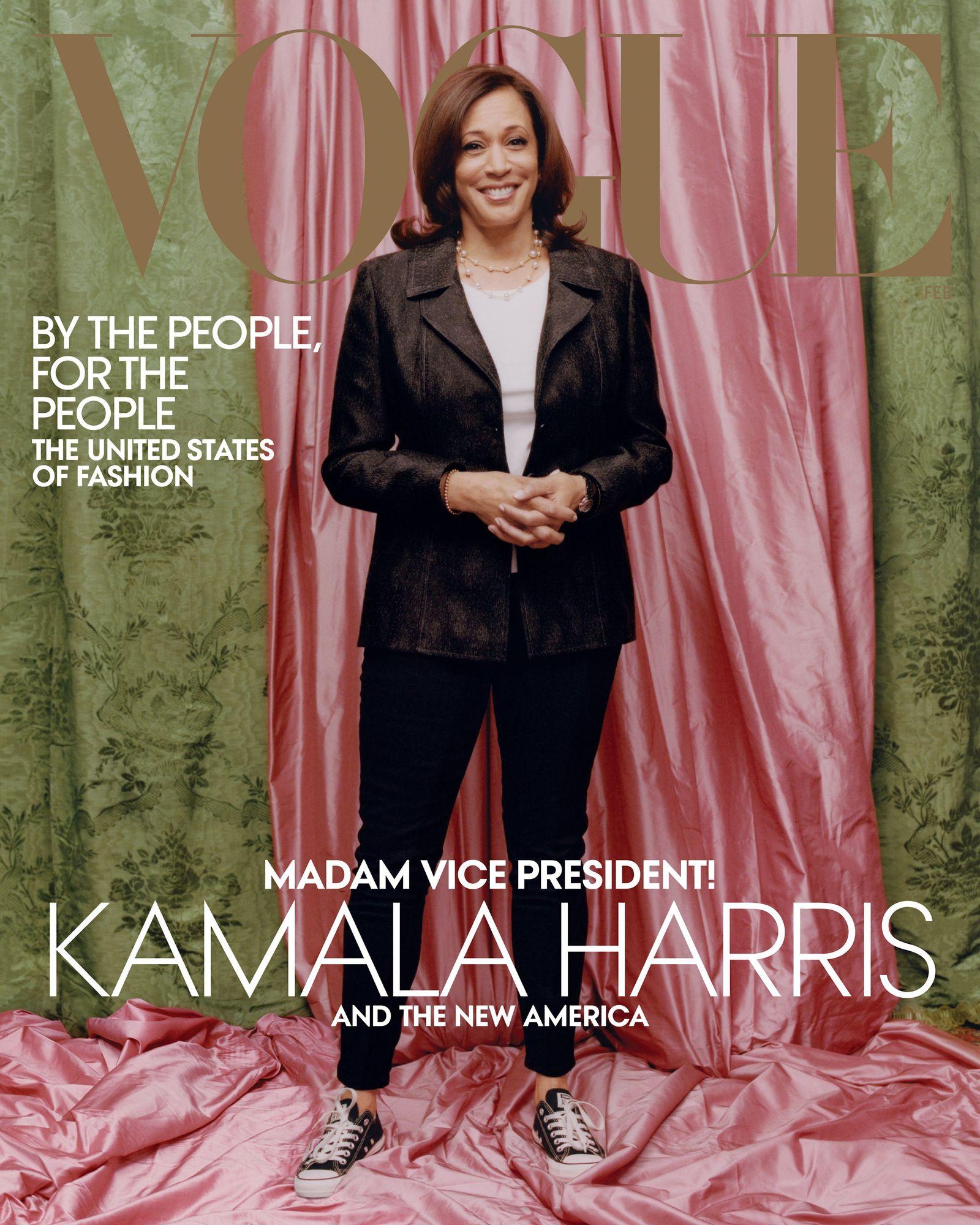 Kamla Harris Vogue Cover NUR ALS ZITAT