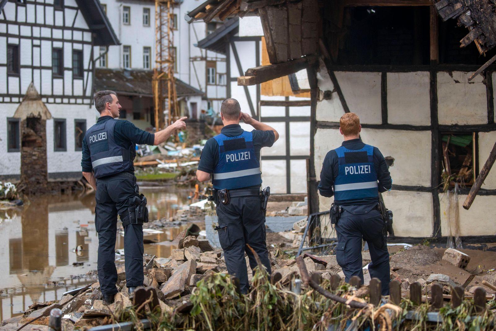 15.07.2021 , Rheinland-Pfalz , Eifel , Verwüstungen durch das Hochwasser der Ahr in dem Eifel-Ort Schuld im Ahrtal anger